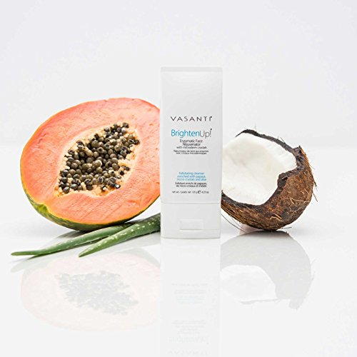 Vasanti Cosmetics Brighten Up! Enzymatic Face Rejuvenator Exfoliating Face Wash by VASANTI - Get Healthy Glowing Skin - Original Size (120g) by Vasanti Cosmetics (Image #3)
