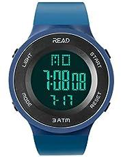 READ Reloj Deportivo, Impermeable, Fecha automática, cronógrafo, Alarma, Fecha automática, cronómetro, Calendario Completo, Resistente al Agua.