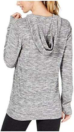 Ideology Space-Dyed Lace-Up Hoodie, Charcoal Heather L