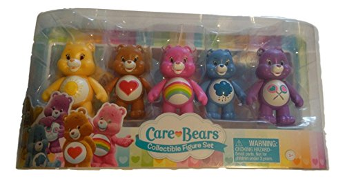 Care Bears, Figurine Set [Tenderheart, Share, Cheer, Funshine, and Grumpy Bear], 5-Pack, 3 Inches ()