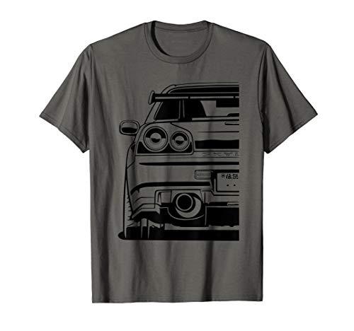 Skyline 34 JDM Rising Sun Tuning Car T-Shirt Japan Retro