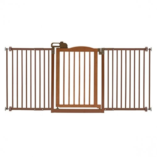 Richell Pet One-Touch Gate II Wide, Brown