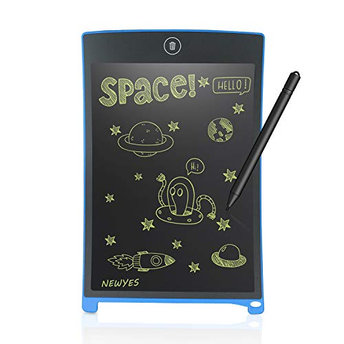 NEWYES 8.5 Inch Doodle Pad Drawing Board LCD Writing Tablet for Kids and Adults Blue