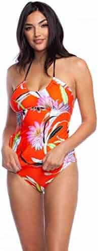 Trina Turk Women's Halter Tankini Swimsuit Top