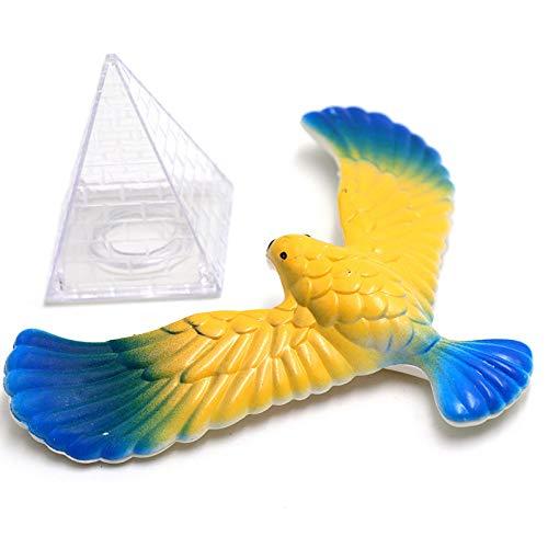 TOOGOO Magic Balancing Bird Science Desk Toy Balancing Eagle Novelty Fun Children Learning Gift Kid Educational Toy with Pyramid Stand,Random - Teaser Novelty Brain