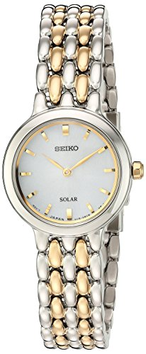 Seiko Women's Ladies Dress Japanese-Quartz Watch with Stainless-Steel Strap, Two Tone, 12 (Model: SUP349) ()
