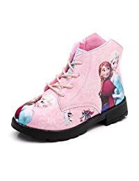 ANKIDS Fashion Plus Velvet Frozen Girls High-Top Sneakers