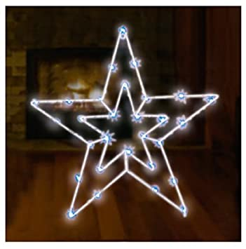 Endura Right Lighting X12BWD1044TV Christmas Window Decoration, Star,  Battery-Operated, 30 LED