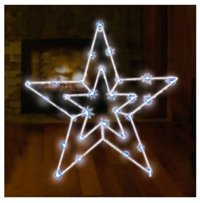 Endura Right Lighting X12BWD1044TV Christmas Window Decoration, Star ...