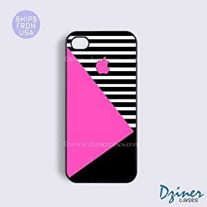 Case Cover For SamSung Galaxy S5 Tough Case - model - Pink Black White Geometric