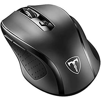 VicTsing mouse VicTsing MM057 2.4G Wireless Portable Mobile Mouse Optical Mice with USB Receiver, 5 Adjustable DPI Levels, 6 Buttons for Notebook, PC, Laptop, Computer - Black