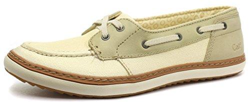 Caterpillar Luster Cream Womens Mocassin Slip On Shoes, Size 5