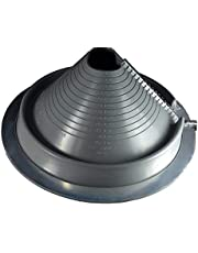 DEKTITE Round Base Pipe Flashing Boot: RETROFIT Gray EPDM Flexible Pipe Flashing Dektite Roof Jack Pipe Boot Pipe Flashing