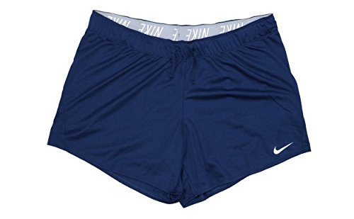 (Nike Women's 5'' Dry Dri-Fit Attack Shorts Navy Blue 885273 429 (Small 5))