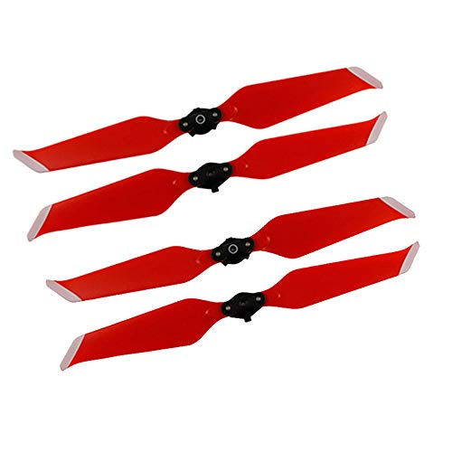 Mavic 2 Pro/ Zoom Drone Propeller Classic Quick Release 8743F Low-Noise Propeller - Blue/Red/White(2 Pairs) (red) ()