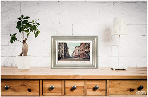 New York Map Company  Church Green and Summer Street, Boston, Mass, 1903 Postcard Vintage Antique Fine Art Reproduction Photo |Size: 8x12|Ready to Frame