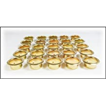 25pcs. Brass Candle Cup Grommets - 7/8 (22.2mm) hole diameter by C. B. Gitty