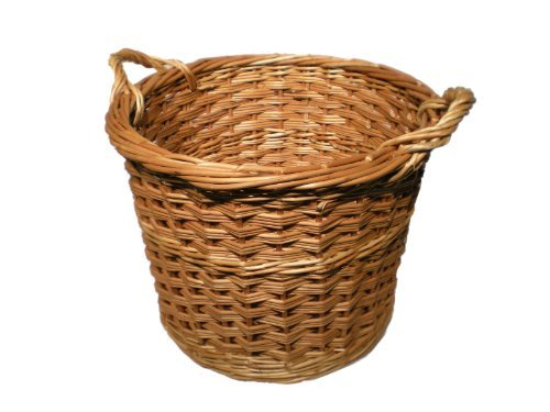 Round Wicker (Willow) Log Basket - Made In Somerset by Somerset Levels (Baskets Somerset Willow)