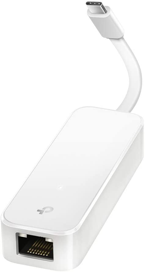 TP-Link USB C to Ethernet Adapter(UE300C), RJ45 to USB C Type-C Gigabit Ethernet LAN Network Adapter, Compatible with MacBook Pro 2017-2020, MacBook Air, Surface, Dell XPS and More