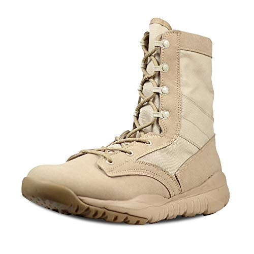 PANY Summer Men's Ultra Light Breathable Combat Boots Commando Outdoor Desert Tactical Boots Military Boots 10 D(M) US Beige Desert Combat Uniform Boots