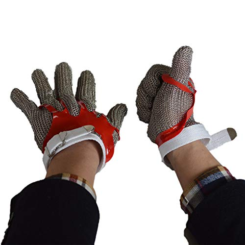 ZHANGZHIYUA Anself Cut Resistant Glove Stainless Steel Mesh Knife Cut Resistant Protective Glove by ZHANGZHIYUA (Image #2)