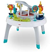 Fisher-Price 2-in-1 Sit to Stand Activity Center, Spin 'n Play Safari