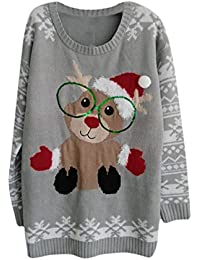 Unisex Thick Ugly Xmas Christmas Pullover Knit Sweater...
