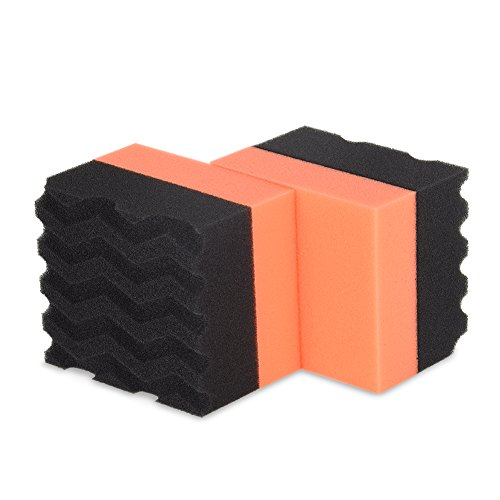Liquid X Large Foam Dressing Applicator Pad - For Tires, Leather, or Door Panels (2 Pack)