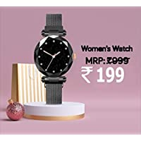 Avicii Diamond Series Black Magnet Analogue Watch for Women's and Girl's Pack of - 1(AVD200)