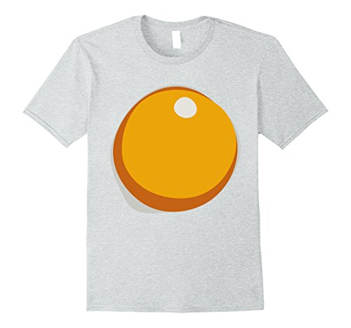 Mens Fried Hard Boiled Egg Yolk Breakfast Halloween Costume Tee Medium Heather (Halloween Hard Boiled Eggs)