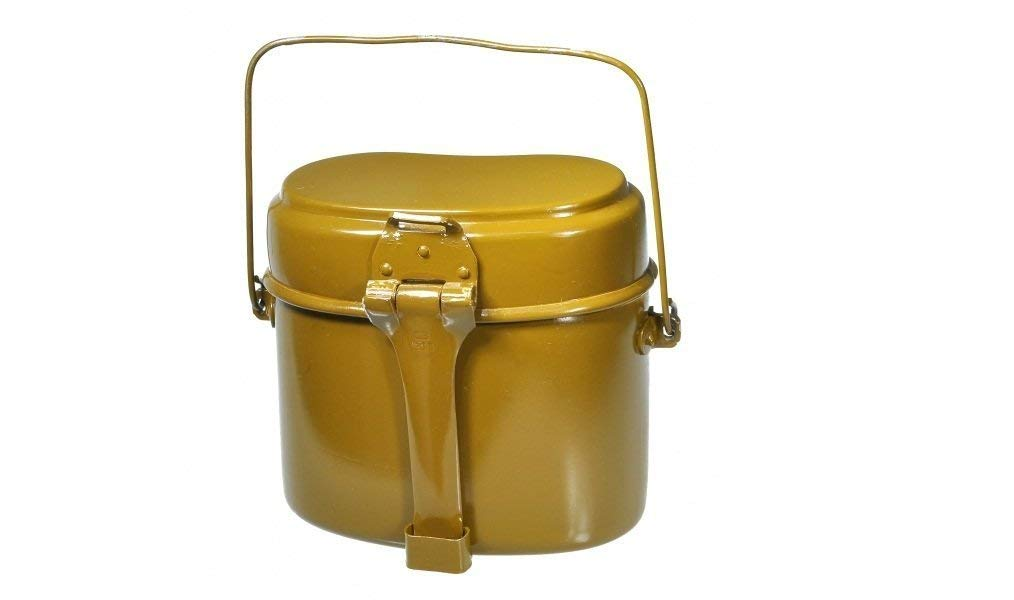 Russian Army Soldier Mess & Griddle /2 in ONE Mess Kit/ Made in USSR Original Soviet Canteen New 1984 Original WWII Type