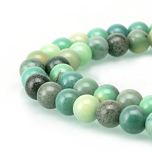 Chrysoprase Agate Gemstone Loose Beads Natural Round Crystal Energy Stone Healing Power for Jewelry Making (4mm, Green Chrysoprase Agate) (Moss Yellow Agate)
