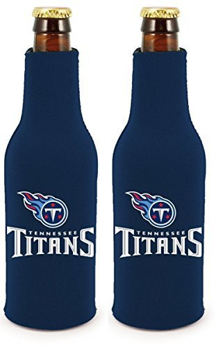 NFL Football 2014 Team Color Logo Bottle Suit Holder Cooler 2-Pack (Tennessee Titans) (Tennessee Titans Team Logo Football)