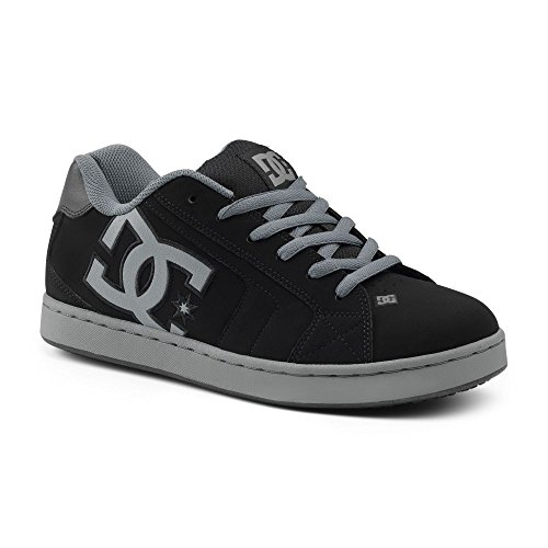 Dc Suregrip Mens Net Sg Black Grey Slip Resistant Work Shoes