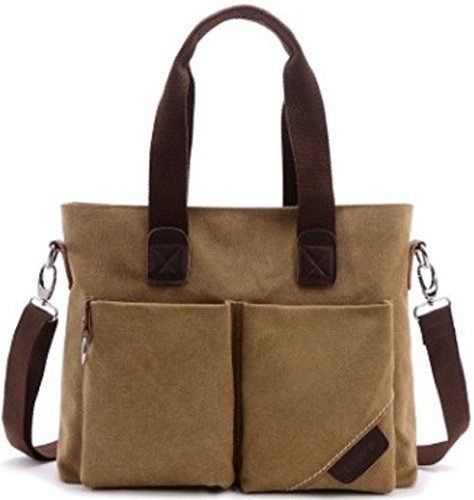 Shikyou  2Way Antique Style Canvas Shoulder Tote Bag  Beige