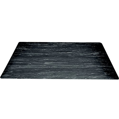 Box Partners Marble Sof-Tyle Grande Anti-Fatigue Mat, 2' X 8', Black (MAT205BK)