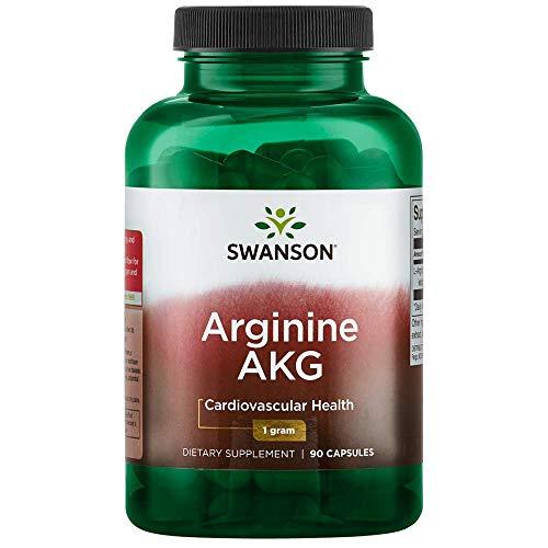 Swanson Amino Acid Maximum Strength Arginine Akg Nitric Oxide Enhancer 1000 Milligrams 90 Capsules