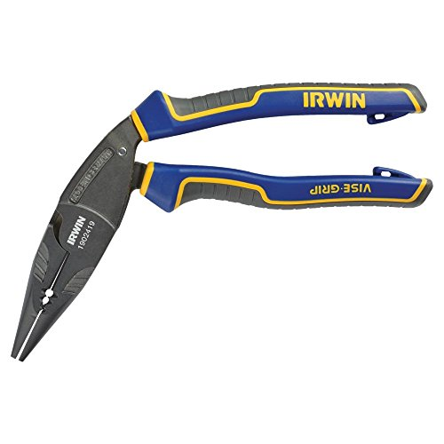 IRWIN Tools VISE-GRIP Pliers, Long Nose Ergonomic Multi Plier, 8-inch (1902419)