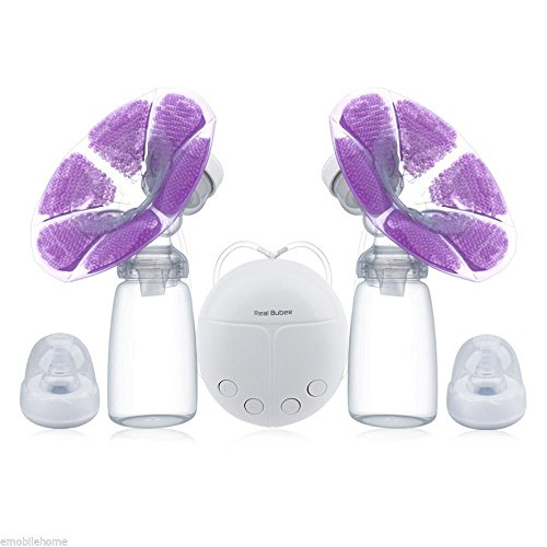 SPARKS FLY Double USB Electric Mothers Brèǎst Pump with Milk Bottle Cold Heat Pad Nípplé