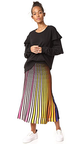 Wilt Women's Raw Ruffle Sweatshirt, Black, Large by Wilt (Image #4)