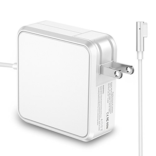 Macbook Pro Charger, POWLAKEN 60W L-Tip Magnetic AC Power Adapter Charger for Macbook and 13-inch Macbook Pro (White)