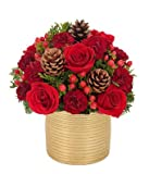 Artistic Collection - Crimson Christmas Bouquet - Christmas Flowers Delivery - Christmas Centerpiece -Christmas PlantsDoggy Supply Mall