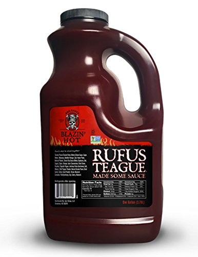 Rufus Teague World Famous Blazin' Hot BBQ Sauce. Kick-Up Your BBQ Party with Our Delicious Sweet Heat BBQ Sauce. Crafted with All Natural Ingredients in America. Buy More and Save. (1)
