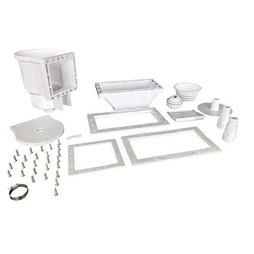 JED Pool Tools 45-430 Wide Mouth Thru-The-Wall Skimmer & Complete Acce