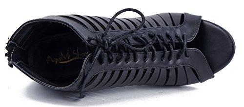 AgeeMi Mujeres Shoes Puntera Abierta Tac qSSYTBUnw