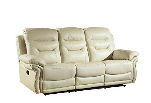 Blackjack Furniture 9392-BEIGE-S Sofa Leather Match Livingro