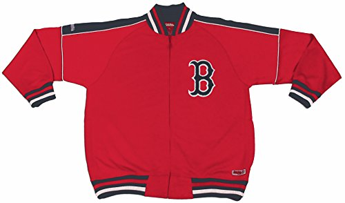 MLB Boston Red Sox Contrast Shoulder Track Jacket, Red, X-Large (Red Jacket Sox Red Boston)
