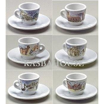 Amazon.com | Italian City Scenes Espresso Cups [6/set] 2 ...