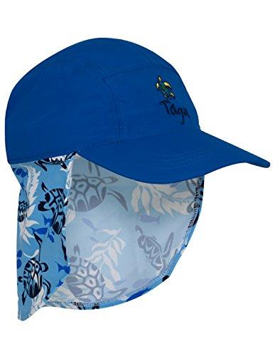 Tuga Boys Flap Hat (UPF 50+), High Sea, Large - Lightweight Spf 20 Sunscreen