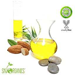Best Sweet Almond Oil by Sky Organics 16oz- 100% Pure, Cold-Pressed, Organic Almond Oil. Great As a Baby Oil- Works Wonder On Wrinkles- Anti-Aging. Almond Oil- Carrier Oil for Massage.